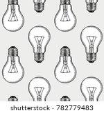 engraving light bulbs | Shutterstock .eps vector #782779483