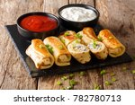 delicious crepes rolls with... | Shutterstock . vector #782780713