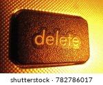 the delete icon  | Shutterstock . vector #782786017