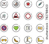 line vector icon set   credit... | Shutterstock .eps vector #782788423
