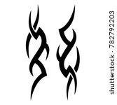 tattoo tribal vector design.... | Shutterstock .eps vector #782792203