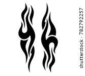 tattoo tribal vector design.... | Shutterstock .eps vector #782792257