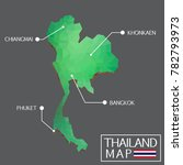 thailand green polygon map ... | Shutterstock .eps vector #782793973