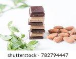 raw chocolate bars   dark... | Shutterstock . vector #782794447