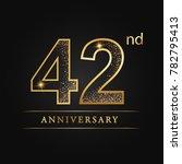 anniversary 42 years... | Shutterstock .eps vector #782795413