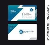 business card template design... | Shutterstock .eps vector #782808343