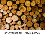 firewood for the winter  stacks ... | Shutterstock . vector #782812927
