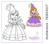 little princess in a ball dress ... | Shutterstock .eps vector #782814217