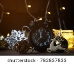 christmas decoration and alarm... | Shutterstock . vector #782837833