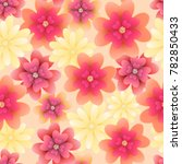 floral seamless pattern with... | Shutterstock .eps vector #782850433