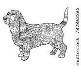 doodle hand drawn dog  a symbol ...   Shutterstock .eps vector #782863363