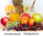 juices smoothies and fresh... | Shutterstock . vector #782869213