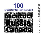 100 biggest countries word... | Shutterstock .eps vector #782873857