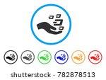 hand offer dash symbols rounded ... | Shutterstock .eps vector #782878513