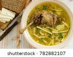 chicken soup zama traditional... | Shutterstock . vector #782882107