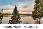 lake arrowhead winter sunrise | Shutterstock . vector #782888347