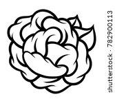 flower rose  black and white.... | Shutterstock .eps vector #782900113