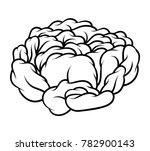 flower rose  black and white.... | Shutterstock .eps vector #782900143