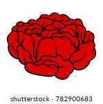 red rose isolated on white... | Shutterstock .eps vector #782900683