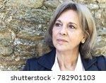 portrait of a mature woman... | Shutterstock . vector #782901103