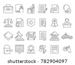 linear symbols of lawyer ... | Shutterstock . vector #782904097