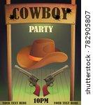 cowboy wild west saloon bar... | Shutterstock .eps vector #782905807