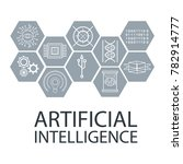 artificial intelligence icons | Shutterstock .eps vector #782914777