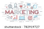 marketing  promotion ... | Shutterstock .eps vector #782919727