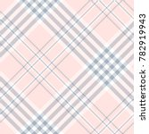 plaid check in pale pink  dusty ... | Shutterstock .eps vector #782919943
