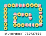 gummy candies background ... | Shutterstock . vector #782927593