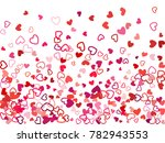 red valentine's day scatter of... | Shutterstock .eps vector #782943553