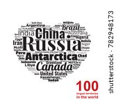 100 biggest countries word... | Shutterstock .eps vector #782948173
