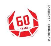 60 years design template.... | Shutterstock .eps vector #782955907