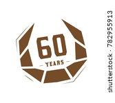 60 years design template.... | Shutterstock .eps vector #782955913