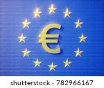 european flag gold blue | Shutterstock . vector #782966167