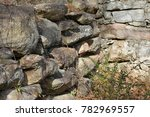 Small photo of Pelham Mill Site Old Rock Foundation Wall