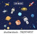 space background  alien... | Shutterstock .eps vector #782974957