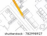 close up with a pencil above... | Shutterstock . vector #782998927