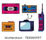 80s technology devices | Shutterstock .eps vector #783004597
