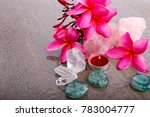 pink frangipani flowers with... | Shutterstock . vector #783004777