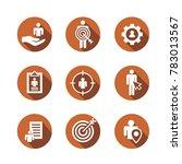 target market icons of buyer... | Shutterstock .eps vector #783013567