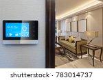 smart screen with smart home... | Shutterstock . vector #783014737