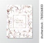 vector marble rose gold... | Shutterstock .eps vector #783026833