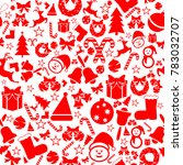 christmas seamless icons.... | Shutterstock .eps vector #783032707