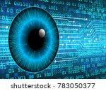 binary circuit board future... | Shutterstock .eps vector #783050377
