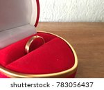 golden ring  a gift to a loved... | Shutterstock . vector #783056437