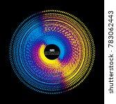a circular abstract background...   Shutterstock .eps vector #783062443