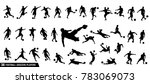 A set of vector set of football, soccer players   Shutterstock vector #783069073