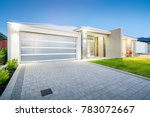 front elevation of modern... | Shutterstock . vector #783072667