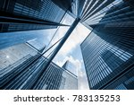 low angle view of skyscrapers... | Shutterstock . vector #783135253